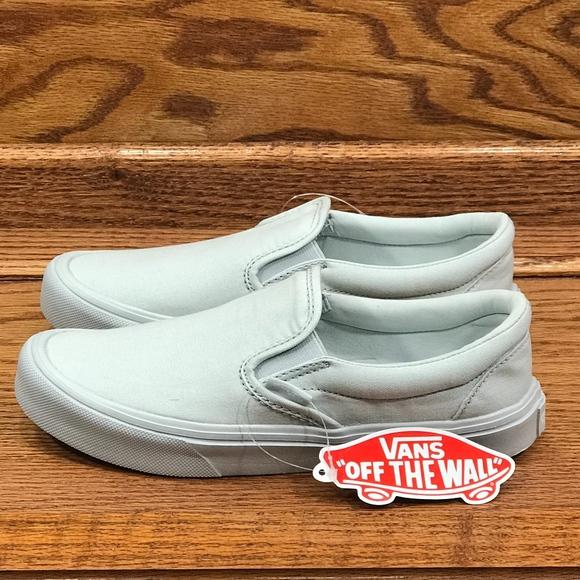 5f7a2cdc604e85 Vans Slip On Lite Mono Dawn Blue Shoes